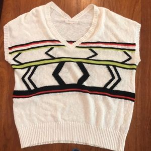 Two by Vince Camuto vneck ivory sweater